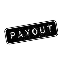 Payout rubber stamp vector