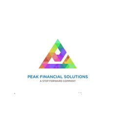 poly triangle logo design vector image