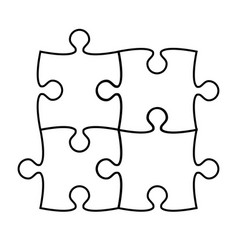 puzzle icon silhouette on white stock vector image