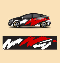 racing car wrap abstract strip shapes for company vector image