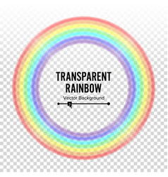 rainbow circle element color spectrum vector image