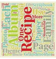Recipe Scrapbook Albums Are Fun text background vector