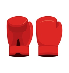 Red boxing gloves on a white background Sports vector image