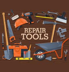 Repair construction carpentry tools or equipment vector