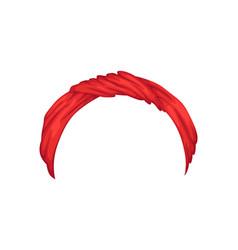 retro headband for woman mockup decorative vector image