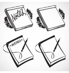 retro notebooks vector image
