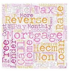Reverse mortgages a tax free income for senior vector
