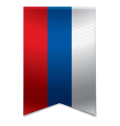 Ribbon banner - russian flag vector image