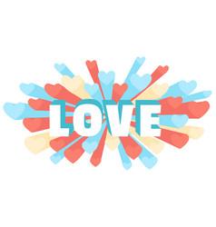 Romance heart spray love greeting card or vector