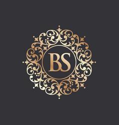 Royal luxury heraldic crest logo vector