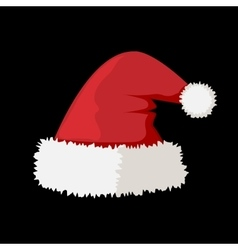 Santa claus red hat isolated vector