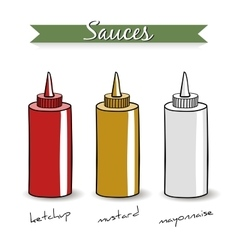 SaucesIsolated vector image