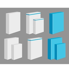 Set of Blank Product Boxes vector image