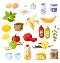 Set of daily meal vector