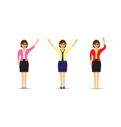 set of three business women vector image