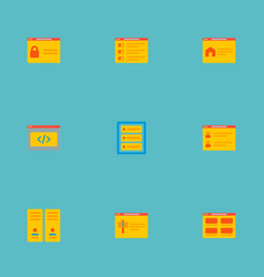 set of wd icons flat style symbols with error page vector image