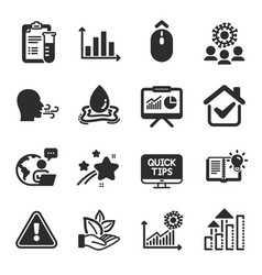 set science icons such as web tutorials vector image