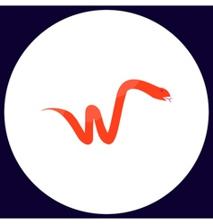 Snake computer symbol vector image