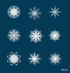 Snowflakes for your design vector