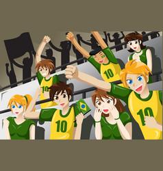 Soccer fans in a stadium vector