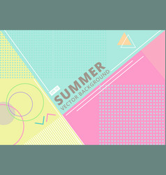 Summer with retro style texture pastel color vector