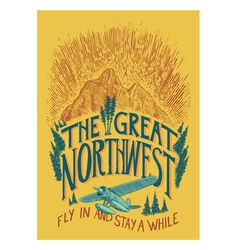 The Great Northwest vector image