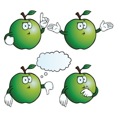 Thinking apple set vector image
