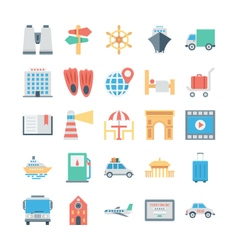 Travel and Tourism Colored Icons 5 vector