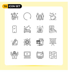 Universal icon symbols group 16 modern vector