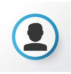 User icon symbol premium quality isolated quest vector
