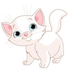 White kitten vector