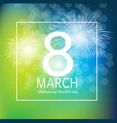 Women s day greeting card 8 march vector