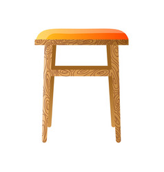 Wooden stool for the kitchen isolated on white vector