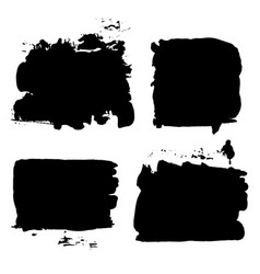 brush strokes set 014 vector image vector image