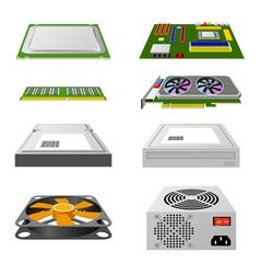 Computer hardware vector image