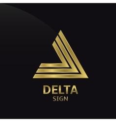 Delta sign vector image vector image