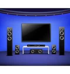 Home Theater Realistic Interior Concept vector image vector image