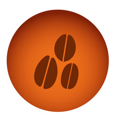 Orange color circular frame with silhouette coffee vector