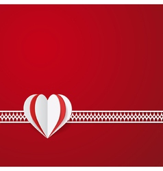 red modern Valentines card vector image vector image