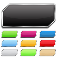 Buttons with Metallic Frame vector image