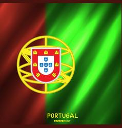 national portugal flag background vector image vector image