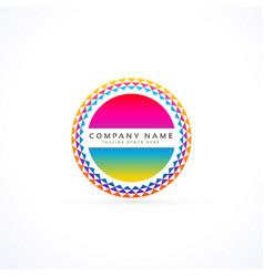 Abstract vibrant logo design concept vector