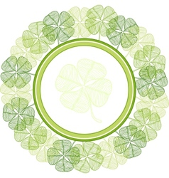Background with abstract clover leaves vector image