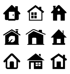 black home icons vector image vector image