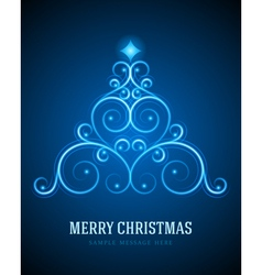 Christmas tree from flourishes calligraphic vector image vector image