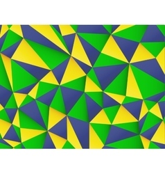 Polygonal background with Brazil flag colors vector image vector image