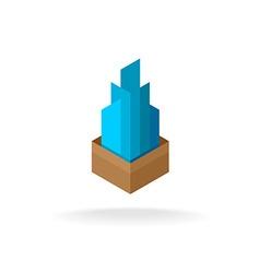 Real estate logo vector image