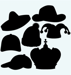 Set of headgear vector image