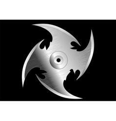 shuriken throwing knife vector image vector image