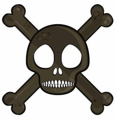 simple skull vector image vector image